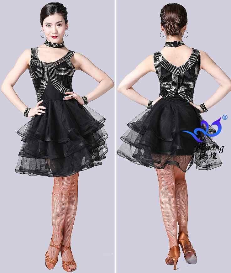 Neue Verkauf Junior Frauen Mädchen Latin Dance Kostüme Pailletten Fringe Latin Dance Kleid Bachata Latin Salsa Kleider