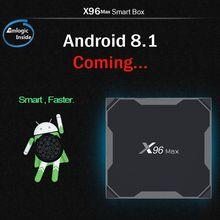 Android 8.1 Amlogic S905X2 LPDDR4 4GB 64GB Quad Core TV BOX 2.4G&5GHz Dual Wifi Bluetooth 1000M H.265 4K 60fps Smart TV presale x96 max android 8 1 amlogic s905x2 lpddr4 4gb 64gb quad core tv box 2 4g 5g wifi bt 1000m h 265 4k 60fps smart tv box