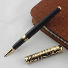 AAA kalite marka DUKE black metal bilye kalem Kutusu güzel ofis kırtasiye lüks Yazı tükenmez kalemler hediye