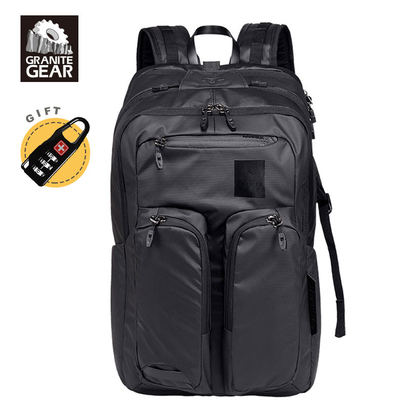 Granite Gear 17 Laptop Backpack 32L Backpack Men Cool Men's Backpack Urban Waterproof Backpack Male Black Travel Bagpack