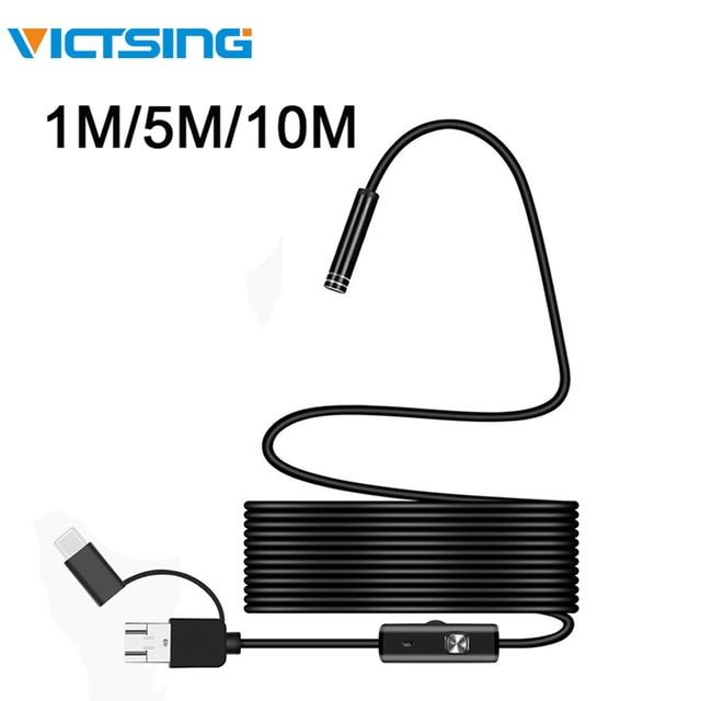 VicTsing caméra endoscopique 5m 7mm Wifi 3 en 1 Android type c USB