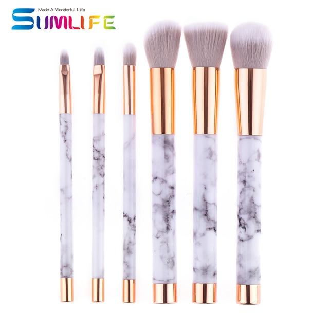 7f4767bbacc2f US $6.99 |Unicorn Makeup Brush marble stripe Cosmetic Makeup Brushes Set  Foundation Eyeshadow brush Blusher Powder Makeup Brush-in Makeup Scissors  ...