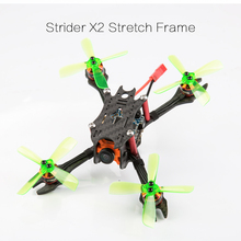 3K Carbon Fiber Strider X2 Stretch X 122mm Micro FPV Racing Frame Kit with 3mm Arm Compatible with 2435 4-blades Propeller