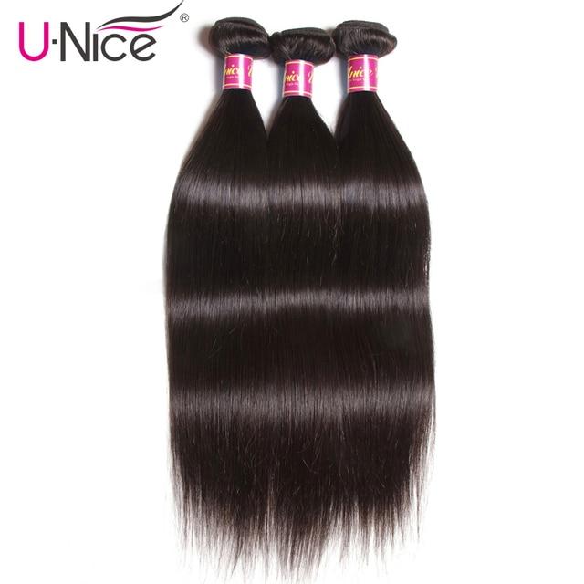 La UNICE pelo brasileño paquetes de pelo recto Color Natural 100% armadura del pelo humano paquetes de 8-30 pulgadas Remy extensión del cabello 1 pieza