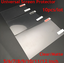10 adet/grup Temizle/Mat ekran koruyucular Evrensel 5/6/7/8/9/10/11 /12 inç Koruyucu Filmler için Genel Mobil/Tablet/Araba GPS LCD