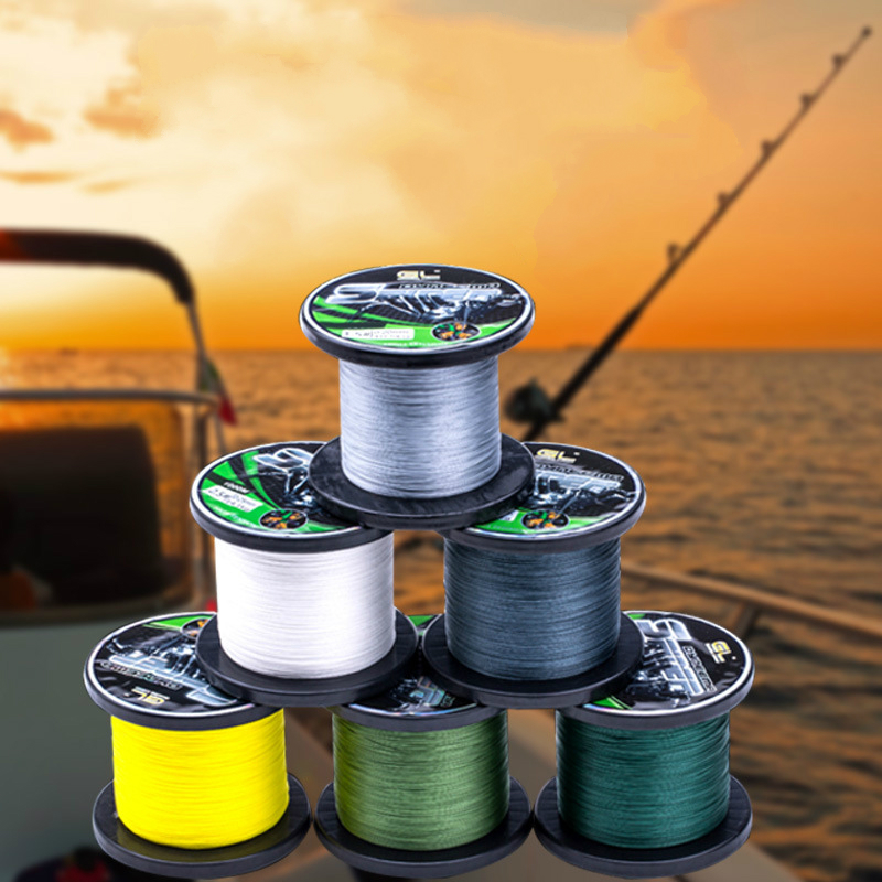 ФОТО High strength fish line 500 meters 8 strands PE braided wire line fishing group floating fishing lure line