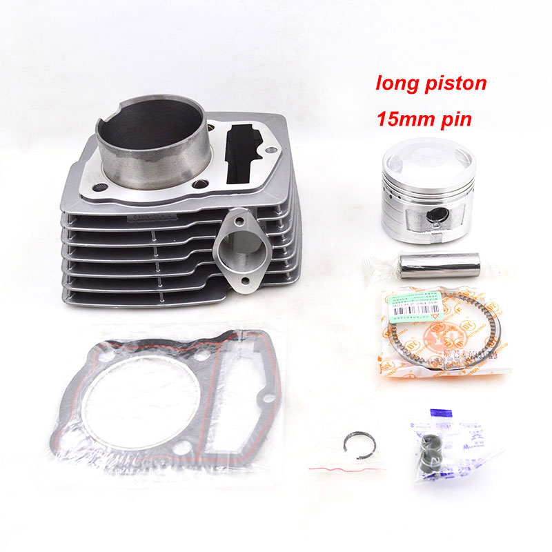 цена на Motorcycle Cylinder Piston Ring Gasket Kit Set for HAOJUE JIALING ZONGSHEN CB150 CBB150 CB CBB 150 ATV DIirt Bike Go Cart Quad