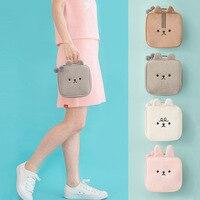 Bentoy милый кролик стиль косметичка плюшевая сумка для макияжа девочка моющаяся Сумка милая женская переносная сумка для туалетных принадлежностей для хранения дорожные сумки