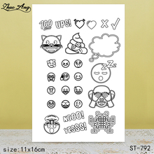 ZhuoAng Social intercourse emoji Clear Stamps/Seals For DIY Scrapbooking/Card Making/Album Decorative Silicon Stamp Crafts