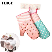 FEIGO 1 Pcs Thickening Microwave Oven Gloves Insulation Oven Mitts Non-Slip Kitchen BBQ Cooking Gloves Bakeware Cake Tool F756 leshp 1pc microwave oven gloves high temperature resistance non slip oven mitts heat insulation kitchen cooking grilling gloves