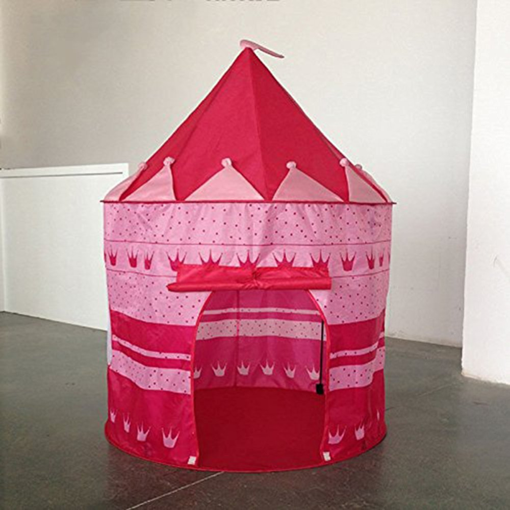 105*135cm Children Beach Tent <font><b>Baby</b></font> Play Game House Kids Princess Prince Castle Indoor Outdoor Tents Christmas Gifts