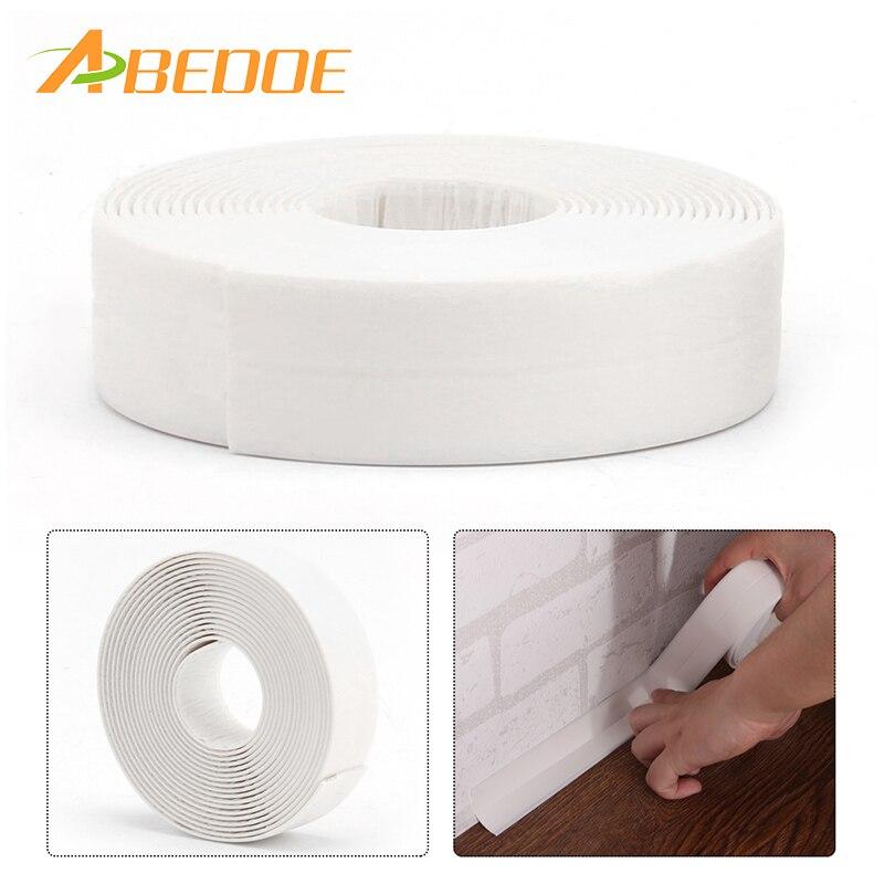 ABEDOE 3.35M x 22mm 38mm Waterproof Sealing Strip White Sealant Tape ...