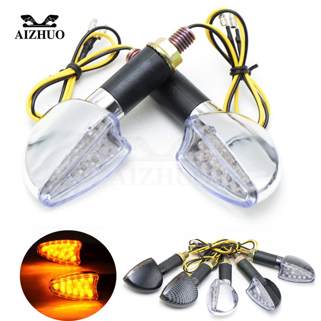 Motorcycle Accessories LED Flashing Tail Signal Turn Signal For Yamaha MT10 TDM 900 XT660 XT660X <font><b>XVS</b></font> <font><b>1100</b></font> MT 09 TRACER R1 R6 image