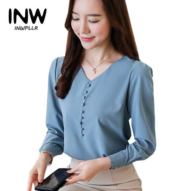 b5f7b45d2 Blusas Mujer Moda 2019 otoño Blusas Oficina Tops mujeres camisas más tamaño  las mujeres Blusa de