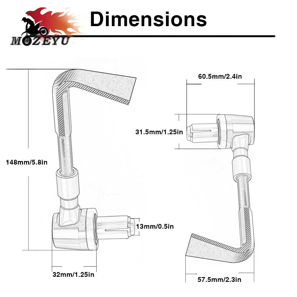 Motorcycle 7 8 quot 22mm Handlebar Brake Clutch Levers Protector Guard For KTM 690 SMC SX SXF DUKE 390 125 200 ENDURO LC4 300 EXC in Covers amp Ornamental Mouldings from Automobiles amp Motorcycles