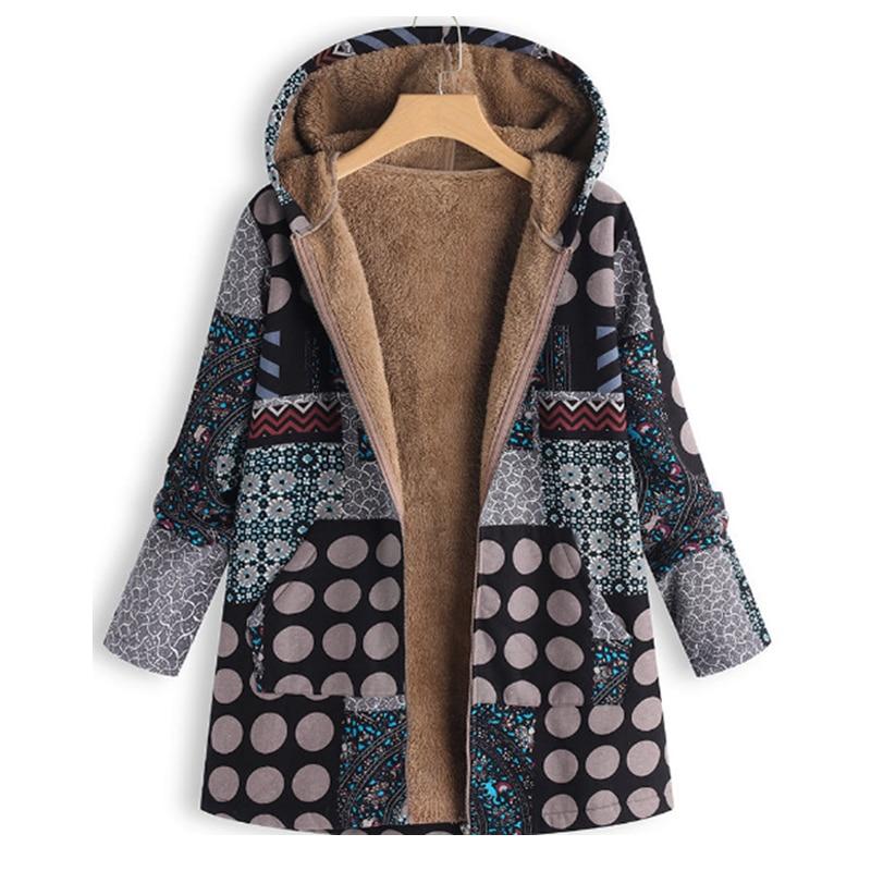 Neue Frauen Mäntel Nationalität Stil Mode Kapuze Lose lange Mantel - Damenbekleidung