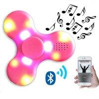 Fidget Spinner LED Light Bluetooth Speaker Hand Spinner Music Spiner Decompression Finger Spinner Toys