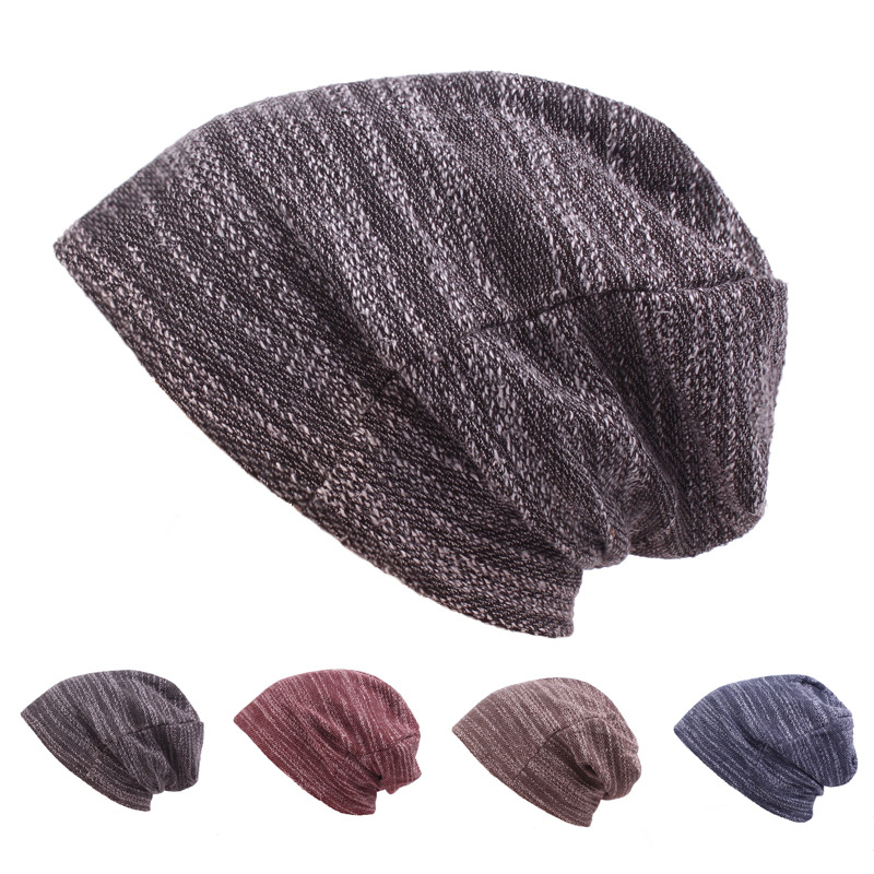 HT1826 Unisex Autumn Winter Hats For Women Men   Skullies     Beanies   Women Men Warm Woolen Knitted Hat Casual Baggy Slouch   Beanie   Hat