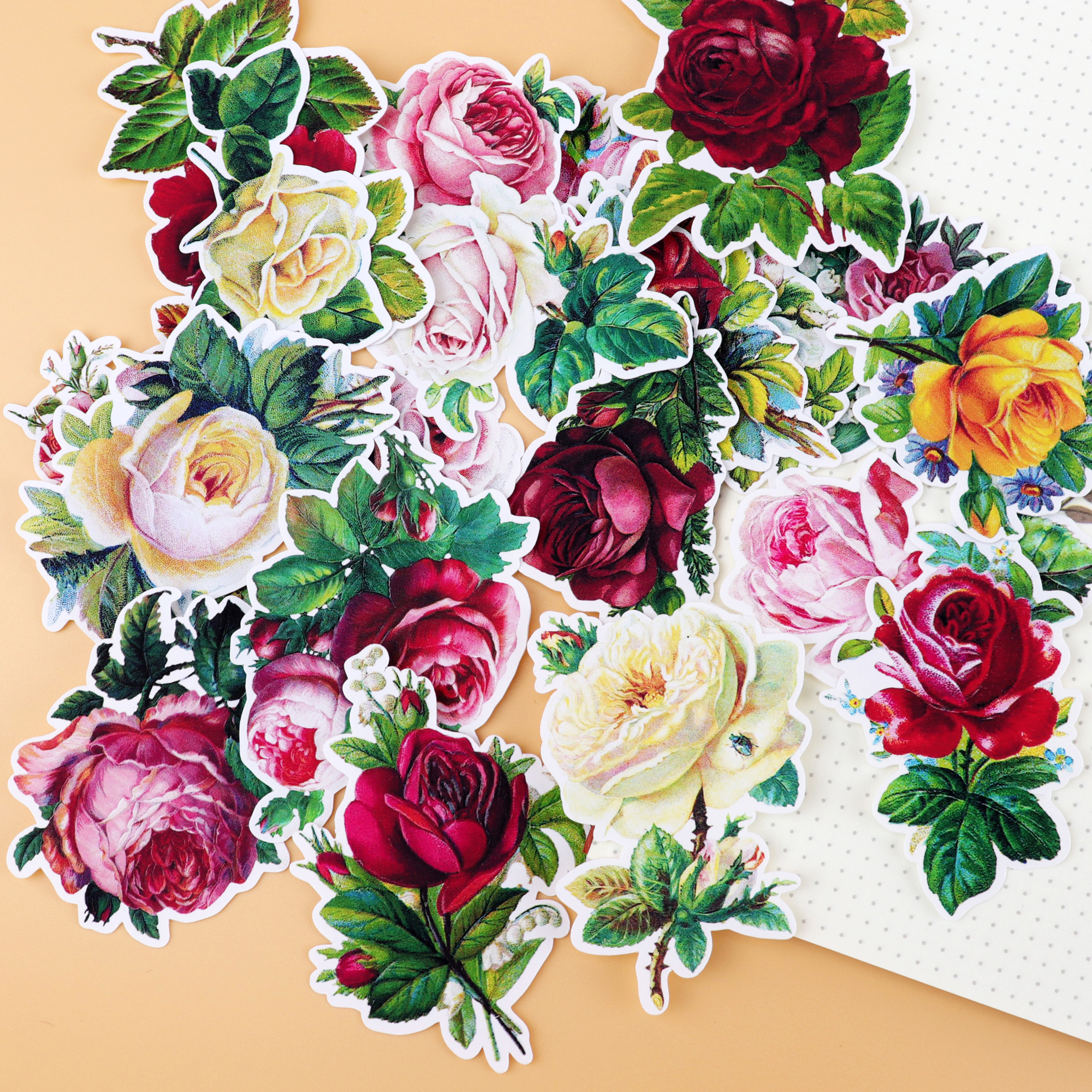 19pcs Lovely Small Flowers And Rose Stickers Scrapbooking Pegatinas Stationery Bullet Journal Kawaii Papelaria Notebook Sticker