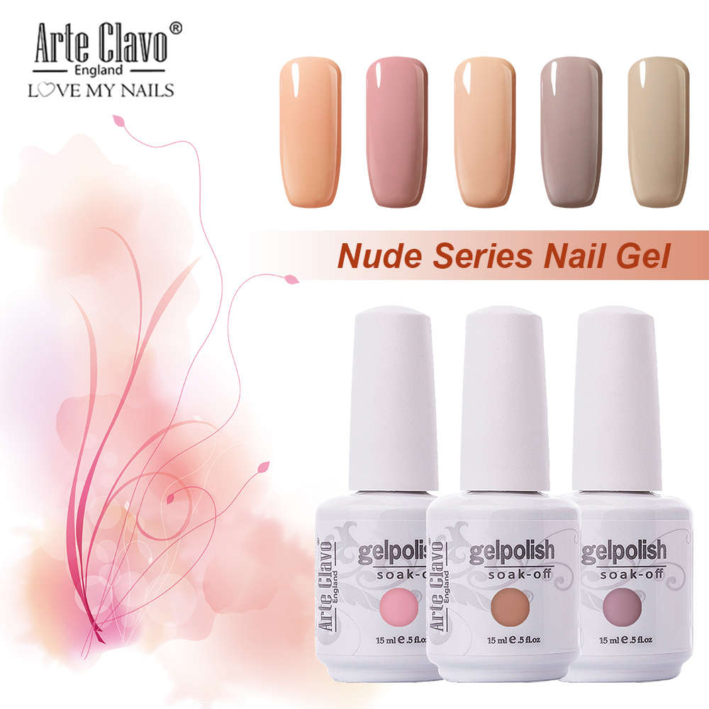 Detail Feedback Questions about Arte Clavo Gel Nail Polish Nude Pink ...