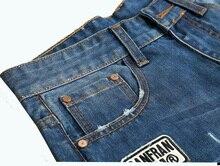 2017 summer new denim shorts Men's jeans hole shorts men High quality cotton men straight  jeans shorts size28/38