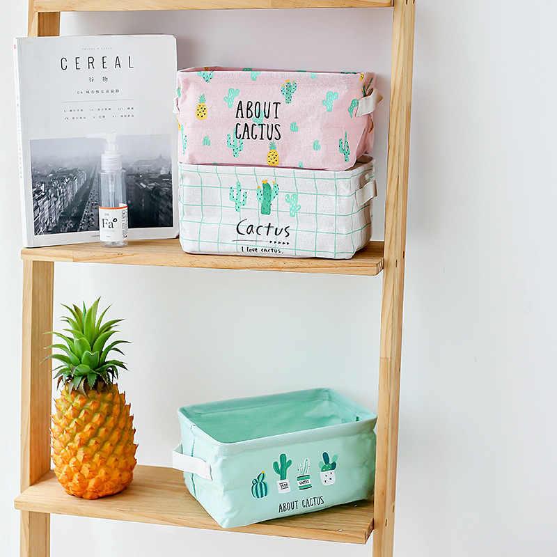 4 кактуса водонепроницаемое хлопковое нижнее белье носки Коробка для хранения