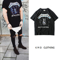 КМО уличная мода harajuku битник городской бренд clothing мужчины одежды джастин бибер iron maiden туман metallica рок футболки