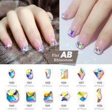10pcs Drop Water Nail Art Rhinestones Crystal Stones  Shiny DIY Charms Jewelry Nail Art Decoration цена 2017