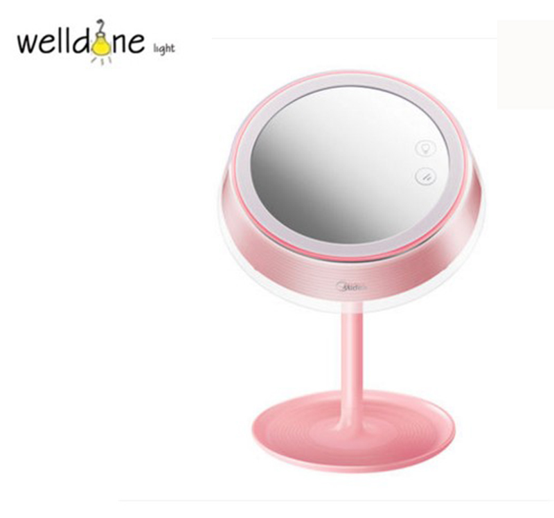High Quality USB Charged 2 in 1 Makeup Mirror Table Lamp LED Light Make Up Desktop Intelligent Mirror Durable Beauty ToolHigh Quality USB Charged 2 in 1 Makeup Mirror Table Lamp LED Light Make Up Desktop Intelligent Mirror Durable Beauty Tool