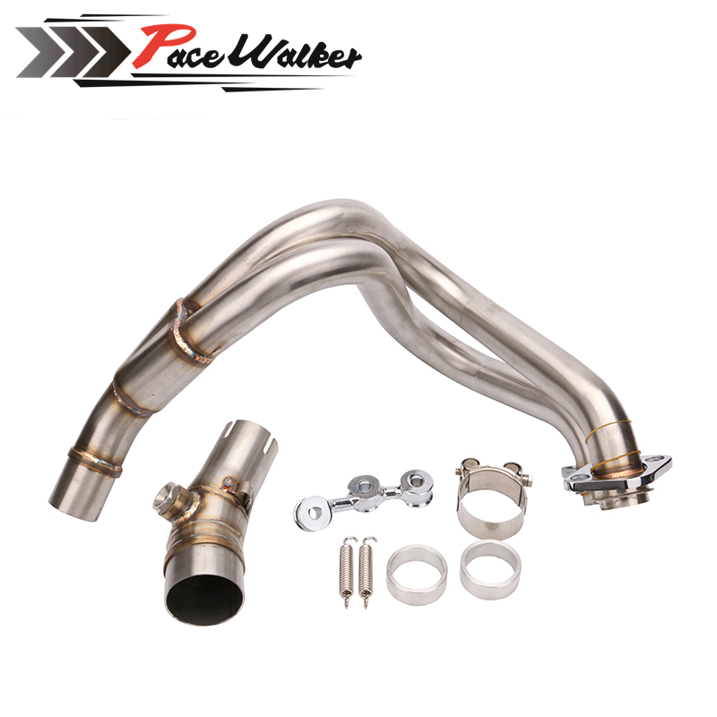 Motorbike Stainless Steel Header Exhaust Mid Pipe for Kawasaki ER-6N ER-6F ER6F ER6N Ninja 650R 2012 2013 2014 2015 Motorcycle цены