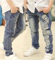 RK-083 Frete grátis jeans meninos primavera & outono menino crianças teste padrão do crânio todo o jogo calças crianças calças atacado e varejo