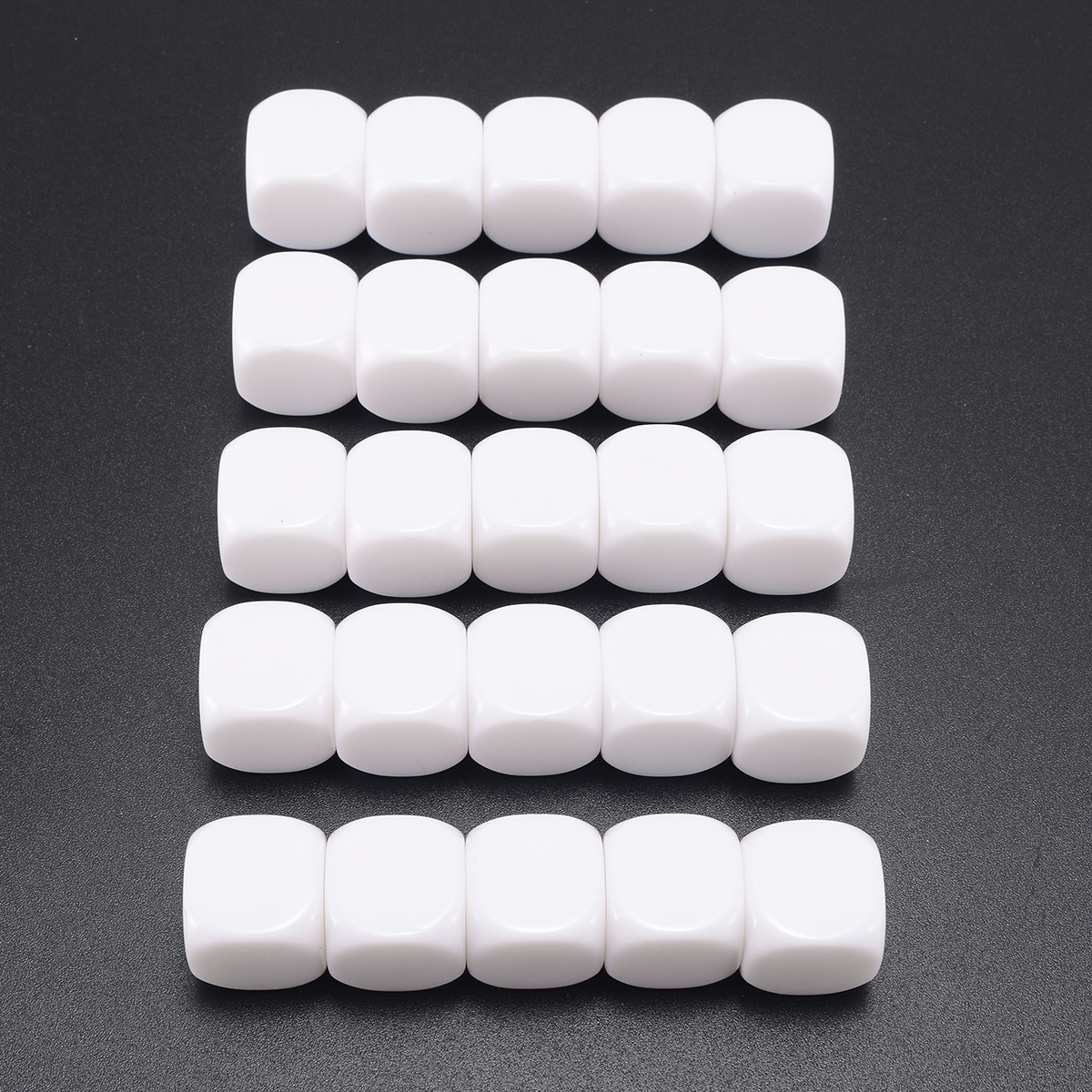 Hot Sale 25pcs Standard Size Blank Dice D6 Six Sided Acrylic RPG Gaming Dice 16mm White For Boardgame Playing Game Accessories