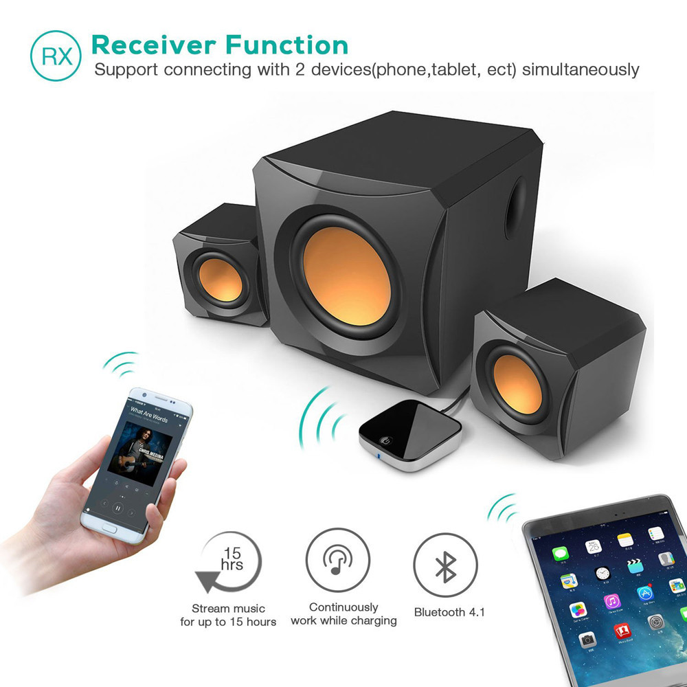 2 in 1 Bluetooth Transmitter and Receiver Aptx Digital Optical Toslink Output 3.5mm AUX BTI-029 TV Car PC MP3 DVD bti 010 2 in 1 bluetooth transmitter