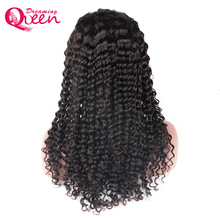 Deep Wave lace front human hair wigs Pre- Plucked Wig Natural Hairline With Baby Hair Brazilian Dreaming Queen Remy Hair