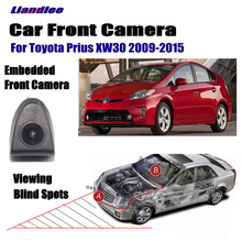 Liandlee Car Front View Camera For Toyota Prius XW30 2009-2015 2010 2011 2012 AUTO CAM ( Not Reverse Rear Parking Camera ) liandlee car front view camera auto cam not reverse rear parking camera for toyota auris 2012 2018 2013 2014 2015