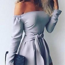 New Women Slash Neck Off Shoulder Clubwear Summer Playsuit High Waist Lace up Bodycon Party Jumpsuit