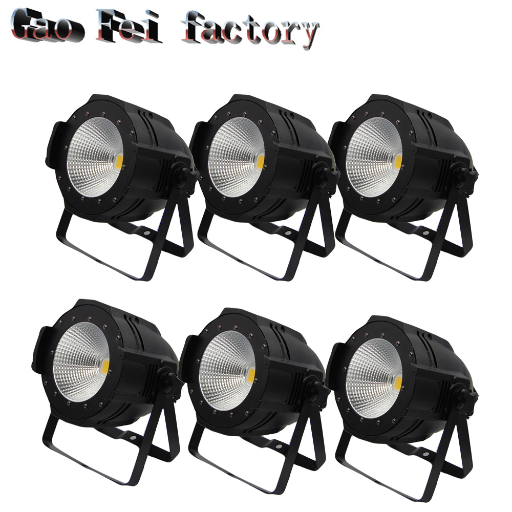 high brightness Aluminium Case white and warm white 100W cob led par light for sale dmx stage light 4xlot led cob par light 100w high brightness aluminium case white and warm white 100w cob led par light for stage disco lights