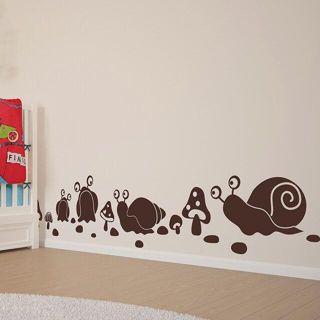 SHIJUEHEZI] Cartoon Snail Mushroom Pattern Wall Sticker Handmade ...