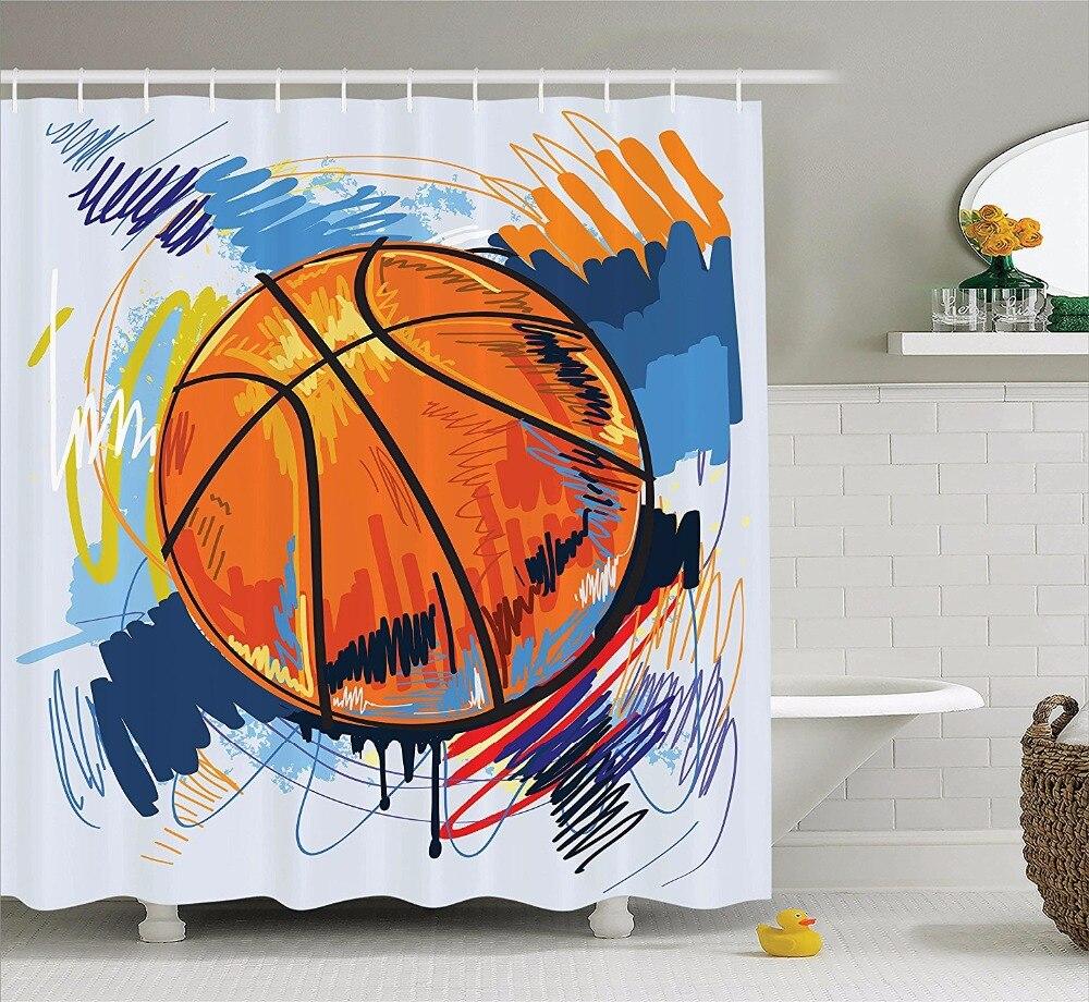 Sports shower curtains - Sports Shower Curtains