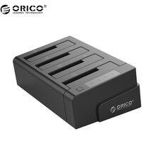 ORICO 6648US3-C USB 3.0 2.5 и 3.5 дюймов SATA внешний жесткий диск Док 4-Bay Off-Line клон Док-станция для HDD-черный