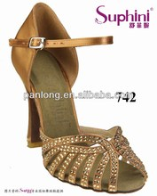 Suphini New Released Latin Shoes, Rhinestone Dance Shoe, Lady Salsa Dance Shoes