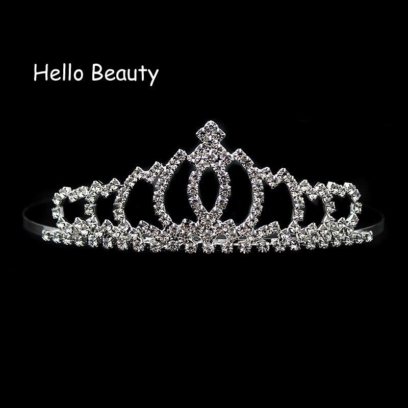Clear Crystal Bride Pageant Hairband Women Hair Jewelry Wedding Hair Accessories Rhinestone Bridal Crowns And Tiaras Headband