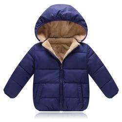 2019 New Children Outerwear Coat Winter Boys Girls Leisure Sport Jackets Infant Warm Baby Parkas Thicken Kids Hooded Clothes