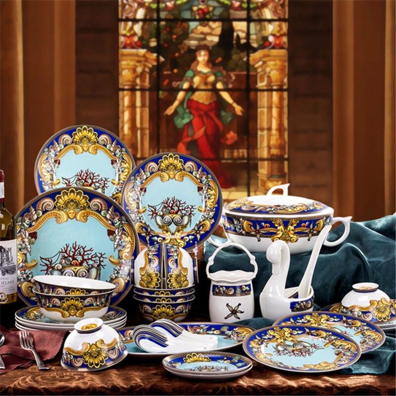 Vaisselle ensembles céramique bol plat bol à soupe cadeau cuisine outils de cuisson accessoire ménage vaisselle décor à la maison porcelaine