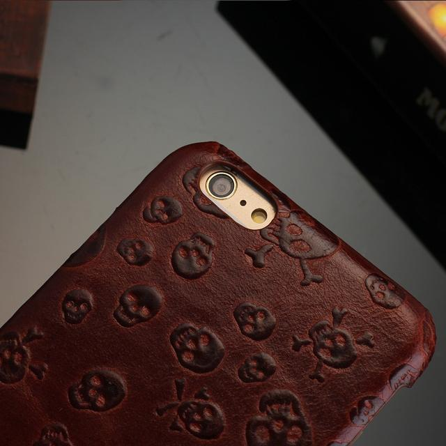 3D SKULL LEATHER IPHONE CASE (4 VARIAN)