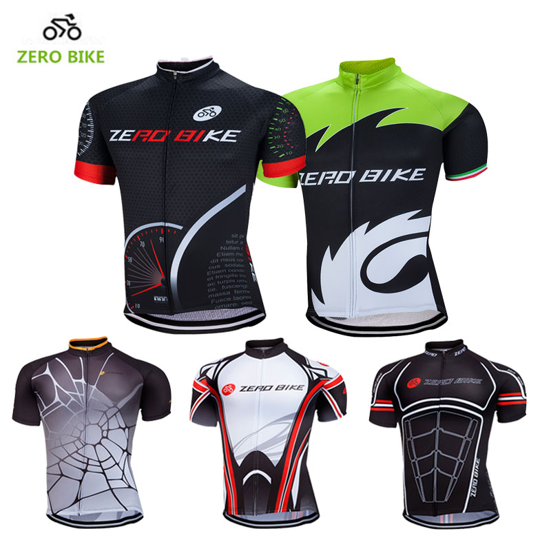 ZEROBIKE 2017 Summer Men's Short Sleeve Cycling Jersey Full zipper Breathable Mountain Bike Clothing Tops ciclismo M-XXL