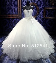 Crystal Wedding Dresses 2013 Sexy Sweetheart Ball Gown Handmade Flower Sequin Embroidery Luxury R080