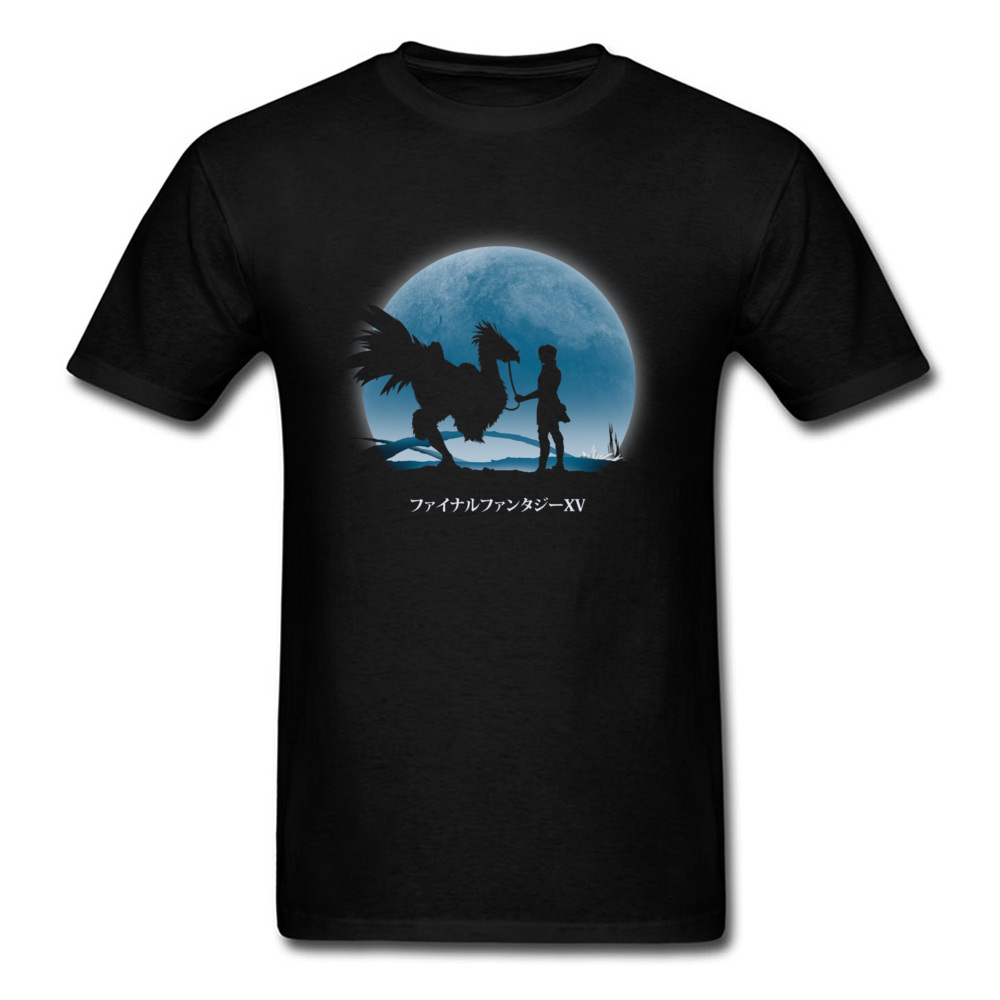 Final Fantasy Summer T Shirt Black Shadow PC Game Graphic Tshirt For Student Duscae At Night T-Shirt Japan Gamer Fan image