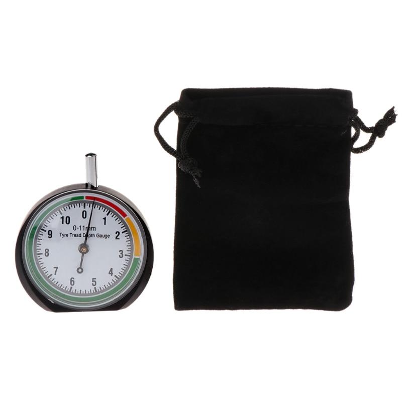 Car Wheel Tire Pressure Tread Depth Gauge Meter Pointer Indicator Measure Device Tool Tire Condition Monitor Display Accessories