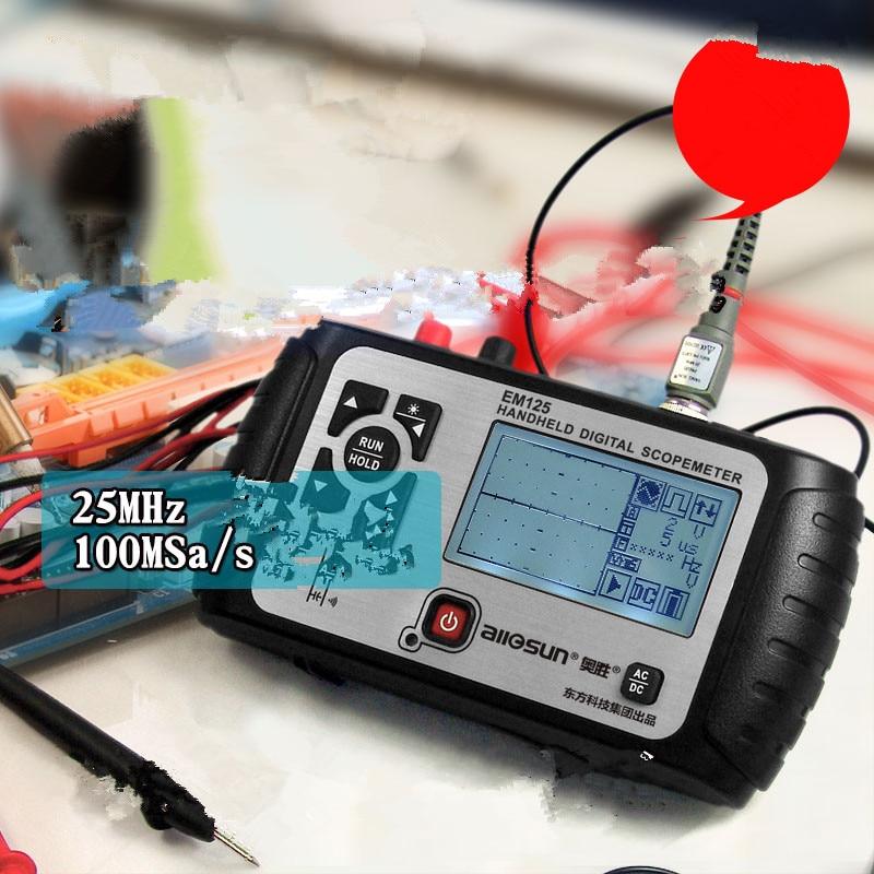 all sun 2 in1 Multifunction Oscilloscope 25MHz Multimeter Digital Handheld Scopemeter Voltmeter Ohmmeter Capacitance EM125